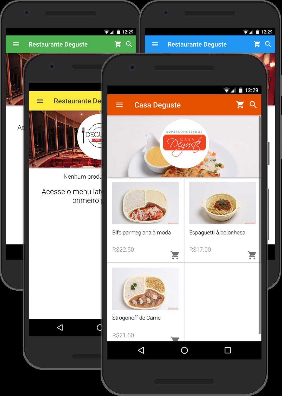 Screenshots - Customização do CatálogoApp